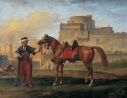 Mameluk tenant son cheval.