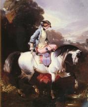 Une élégante cavalière.
