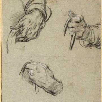 Etude de mains.