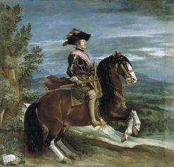 Felipe IV a caballo.