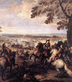Passage du Rhin par l'armée de Louis XIV à Tolhuis.