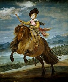 Portrait équestre du Prince Balthazar-Charles.