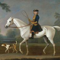Sir Roger Burgoyne Riding 'Badger'.